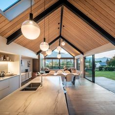 Stunning French oak flooring from Forté shines in this Wanaka home. Modern Barn House, Modern House Design, Barn House Design, Architecture House Design, Barn Style Houses, Glass House Design, Cabin Design, Landscape Architecture, Home Interior Design