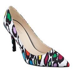 7b61dee11495 Rainbow-colored leopard print! Martina pointed toe pumps Pointed Toe Pumps