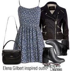 Elena Gilbert inspired outfit/TVD by tvdsarahmichele on Polyvore featuring мода, River Island, H&M and Kate Spade