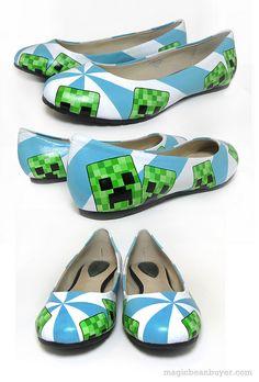 Hand-Painted Minecraft Creeper Flats