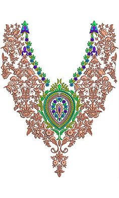 Latest Short Neck Designs For Embroidery Design Of Neck, Line Design, Kurti Neck Designs, Dress Neck Designs, Machine Embroidery Designs, Embroidery Patterns, Short Neck, Irish Crochet, Paint Designs