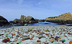 Glass Beach in Fort Bragg, California. I HAVE to go visit this place! Road trip, anyone!?