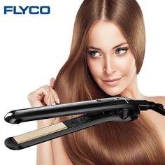 Flyco plancha Profesional de pelo eléctrico de cerámica plancha de pelo Alisado de Hierro plana Herramientas de Peinado del cabello Seco y Húmedo FH6812