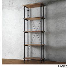 TRIBECCA HOME Myra Vintage Industrial Modern Rustic Bookcase   Overstock.com Shopping - The Best Deals on Media/Bookshelves