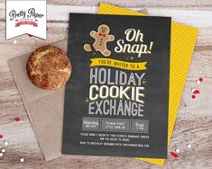 Cookie Swap-invite-gingerbread