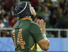 South Africa took a huge step towards the Rugby World Cup quarter-finals Friday with a bonus-point win over Italy, who had a man sent off for a dangerous tackle. Live Matches, All Blacks, Rugby World Cup, South Africa, Take That, Avatar Airbender, Italy, Sports Teams, Mj