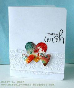 Watercolor Hearts Make a Wish