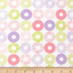 "Cozy Cotton Flannel Circles Pastel from @fabricdotcom  From Kaufman comes ""Cozy Cotton"", this soft double-napped (brushed on both sides) flannel fabric is perfect for apparel, quilting and home décor accents. The colors include lavender, shades of pink, light green and white."