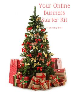 Beautiful christmas tree with gift boxes and shopping bags - Stock Photo , Corner Christmas Tree, Christmas Tree Pictures, Red And Gold Christmas Tree, Ribbon On Christmas Tree, Beautiful Christmas Trees, Christmas Night, Christmas Scenes, Vintage Christmas Cards, A Christmas Story
