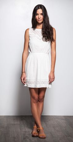 You can't go wrong with a white #dress #QSWLOOKS