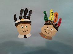 Handprint Pilgrim And Indian Boys