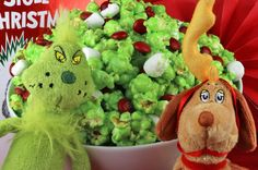 Grinch Popcorn - Sweet and salty and delicious. it will be popular with kids and adults alike at your How the Grinch Stole Christmas movie night. Christmas Popcorn, Grinch Stole Christmas, Christmas Snacks, Xmas Food, Christmas Cooking, Christmas Fun, Christmas Dessert For Kids, Christmas Decorations, Best Christmas Recipes