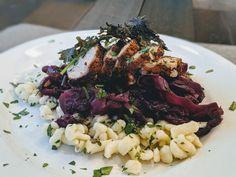 Yet another #CopyCat #Recipe from Husk. Smoked Pork Chops, Pork Shoulder Roast, Purple Cabbage, Pork Roast, Copycat, Great Recipes, Risotto, Mustard, Blueberry