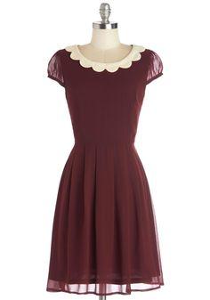 Surprise Me Dress in Burgundy   Mod Retro Vintage Dresses   ModCloth.com