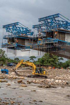 Contrucción del Puente Binacional Tienditas (2015). Conecta a Venezuela y Colombia.