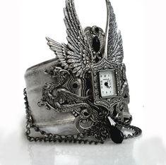 Gothic Steampunk Cuff Watch.