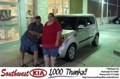 #HappyAnniversary to Tracy  Bennett on your 2013 #Kia #Soul from Russell Paulov at Southwest KIA Rockwall!