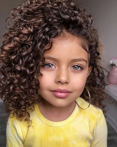 Black Toddler Hairstyles, Kids Curly Hairstyles, Pretty Hairstyles, Curly Hair Styles, Natural Hair Styles, Curly Bangs, Curly Kids, Curly Girl Method, Cute Kids Fashion