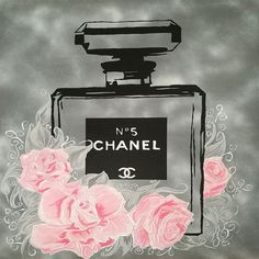 CANVAS Chanel Fleurs I Urban Chic Gallery Wrapped Art by Pop Art Queen #PopArt