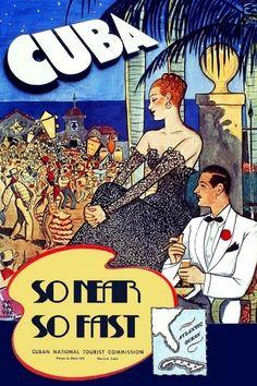 Cuban Carnaval. Fiesta Cubana Vintage Poster