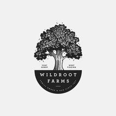Best Logo Design, Brand Identity Design, Branding Design, Logo Design Inspiration, Icon Design, Landscaping Logo, Rustic Logo, Hand Drawn Logo, Tree Logos