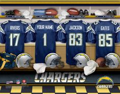 San Diego Chargers NFL Football - Personalized Locker Room Print   Picture.  Have you or ae28ae7d4