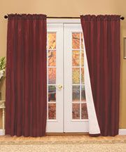 Curtains for master bath french doors?