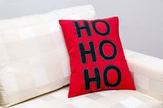 HoHoHo the famous Santa laughpainted with green by ThePillowWorld