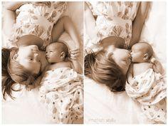Northern Virginia Newborn Photography © Limefish Studio 2013 | Baby Boy | Newborn Pose | Sibling Pose | Newborn with Big Sister
