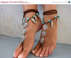 PROMO SALE Barefoot Sandals Barefoot Beach  seaside by SoftCrystal