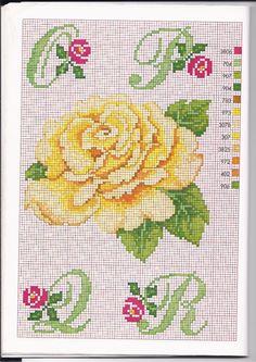 Alfabeto punto croce con le rose (3)