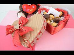 Como hacer una caja en forma de corazón para San Valentín // Día del amor y la amistad - YouTube