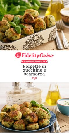 Polpette di zucchine e scamorza Crispy Smashed Potatoes, Low Carb Brasil, Vegetarian Recipes, Healthy Recipes, Salty Foods, Food Humor, Antipasto, Finger Foods, I Foods