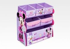 Toddler Furniture : Minnie Mouse 6 Bin Multi-Bin Organizer