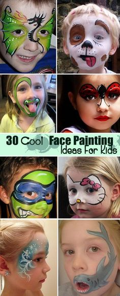 Cool Face Painting Ideas For Kids! Planning for your next event// vendor directo. - - Cool Face Painting Ideas For Kids! Planning for your next event// vendor directory www. The Face, Face And Body, Face Painting Designs, Body Painting, Face Painting For Kids, Children Painting, Halloween Make Up, Halloween Face Makeup, Costume Makeup