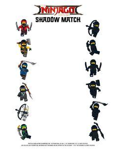Printable LEGO NINJAGO Games – Memory & Shadow Match