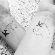 Friend tattoos, matching best friend tattoos, bestie tattoo, tatoos for bes Mini Tattoos, Sister Tattoos, Small Tattoos, White Tattoos, Beste Freundin Tattoo, Wanderlust Tattoos, Small Best Friend Tattoos, Matching Best Friend Tattoos, Bestie Tattoo