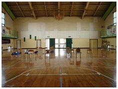 jr. high school gym in japan.