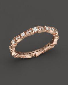 Dana Rebecca Designs Diamond Bow Band in 14K Rose Gold, .49 ct. t.w. | Bloomingdales's