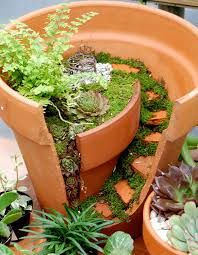Vaso com mini jardim