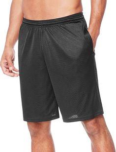 Hanes Men's Sport Mesh Pocket Short, Ebony, Large at Amazon Men's Clothing store Gym Shorts, Sport Shorts, Fall Fashion Outfits, Suit Fashion, Fasion, Mens Fleece, Sport Man, Shorts With Pockets, Mesh