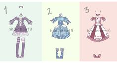 [Auction][CLOSED] Outfit Batch 4 by hito-chan19.deviantart.com on @DeviantArt