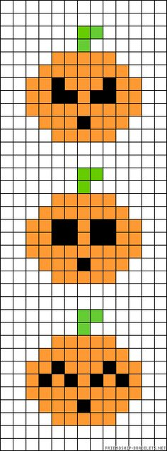 Halloween pearler bead or cross stitch pattern... Maybe even a quilt pattern too, just go all out! Group of jack I lantern pumpkin faces