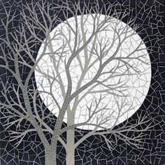 White Moon ~ by Robert Field. Mosaic tree
