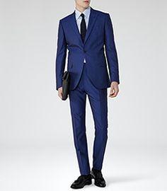 Johnson Bright Blue Peak Lapel Suit - REISS