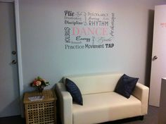 Wall decor with highland dance words