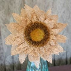 How would you like a quick and easy tutorial on burlap sunflowers?      I always think of sunflowers at this time of the year. I lo...