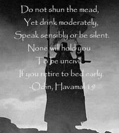 Odin, Havamal 19 I want to make this into a sign for our wedding!