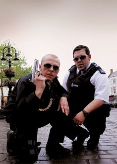 """""""Yarp""""hot fuzz in my opinion pegg and frost are hilarious and adorable love em Simon pegg is really talented"""
