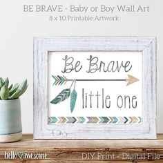 Baby Nursery Art   Be Brave Little One Quote by helloawesomedesign